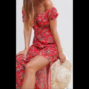Short Sleeve Floral Maxi Dress 🔥